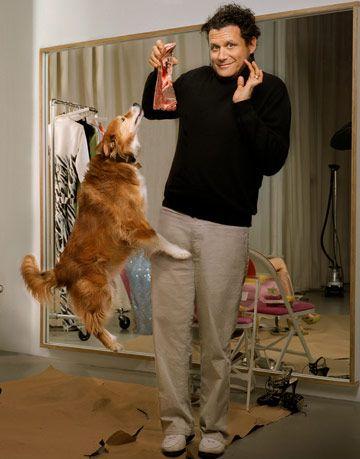 isaac mizrahi with his dog