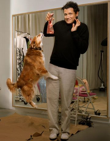 isaac mizrahi with his dog