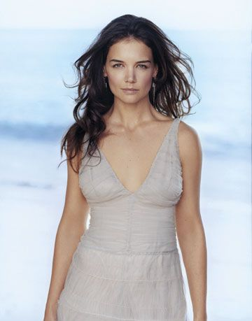 katie holmes in a nude giorgio armani gown