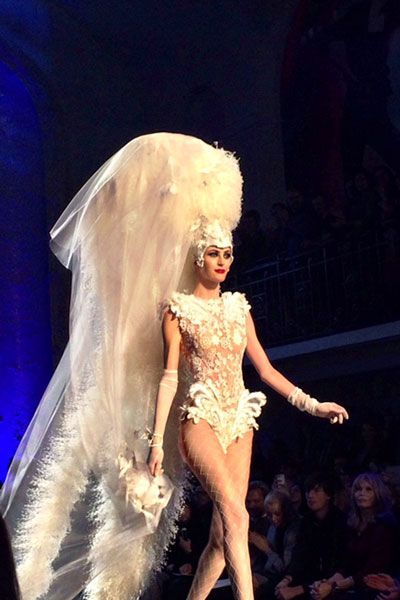 Fashion, Fashion model, Model, Costume design, Thigh, Long hair, Performance art, Blond, Fashion show, Haute couture,