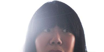 Lip, Hairstyle, Forehead, Eyebrow, Black hair, Long hair, Beauty, Fashion, Black, Cool,