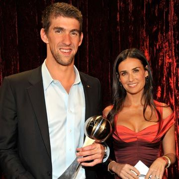 michael phelps and demi moore