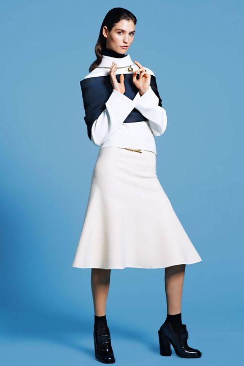 Clothing, Footwear, Sleeve, Shoulder, Joint, Collar, Formal wear, Style, Knee, Uniform,