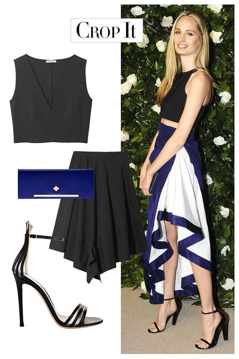 Blue, Sleeve, Shoulder, Textile, Collar, Joint, Style, Formal wear, High heels, Pattern,