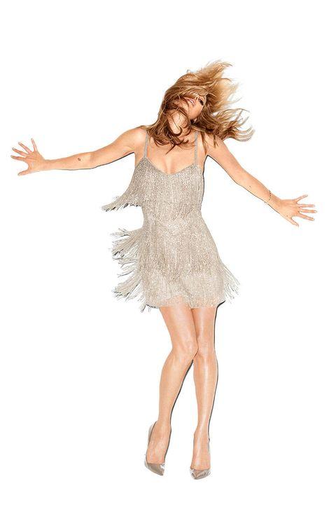 Finger, Skin, Shoulder, Dress, Standing, Joint, Human leg, Waist, One-piece garment, Elbow,