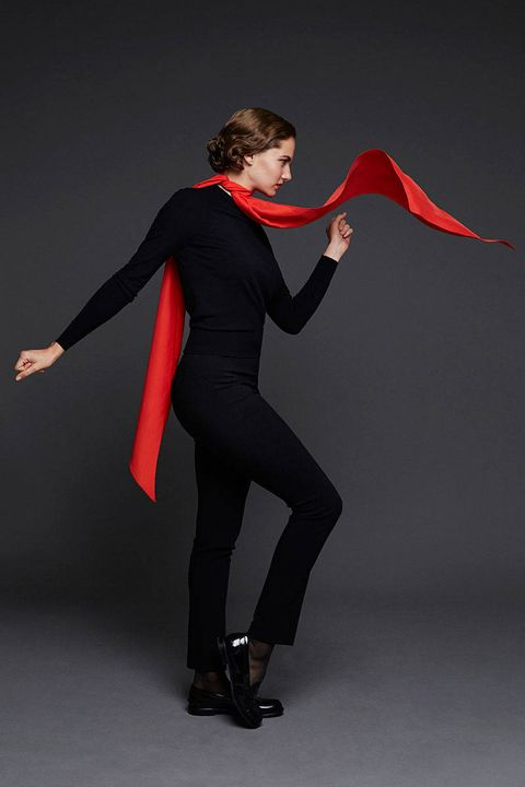 Joint, Elbow, Artist, Carmine, Knee, Costume, High heels, Dance, Performance art, Suit trousers,
