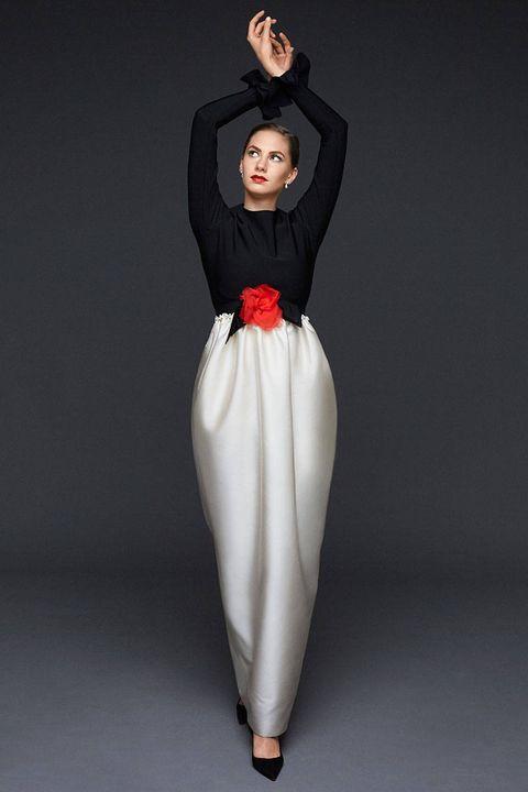 Joint, Standing, Costume design, Fashion, Costume, One-piece garment, Animation, Gown, Waist, Fashion design,