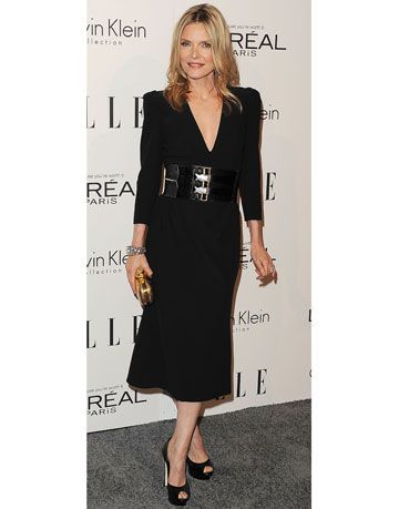 Michelle Pfeiffer in Alexander McQueen at the Women in Hollywood awards