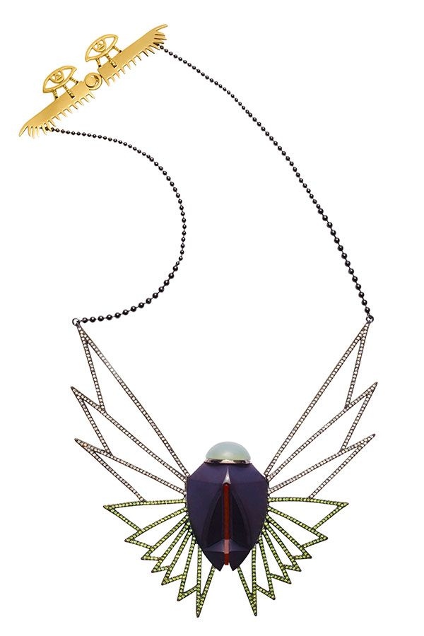 a necklace that takes wing