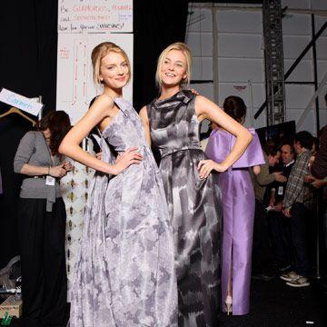 models wearing michael kors gowns
