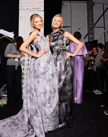 models wearing michael kors gowns