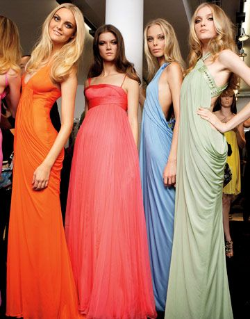 colorful versace evening gowns