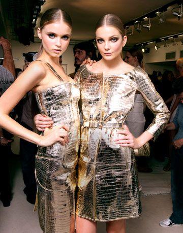 models at versace