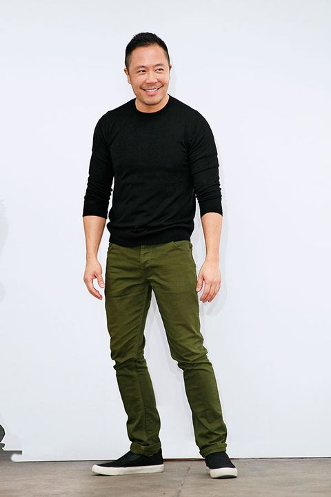 Sleeve, Trousers, Shoe, Shoulder, Collar, Standing, Elbow, Joint, Khaki, Style,