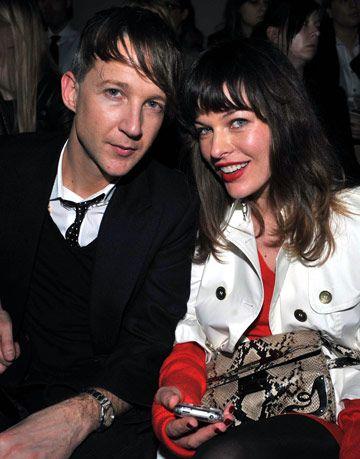 Jefferson Hack and Milla Jovovich at Miu miu