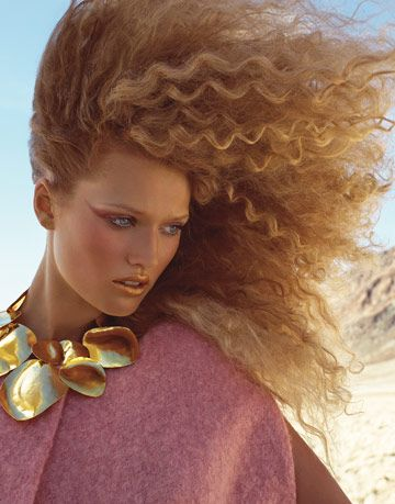 model in the desert