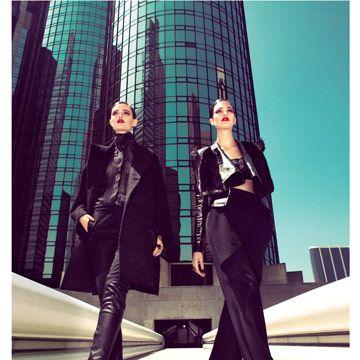 models in black