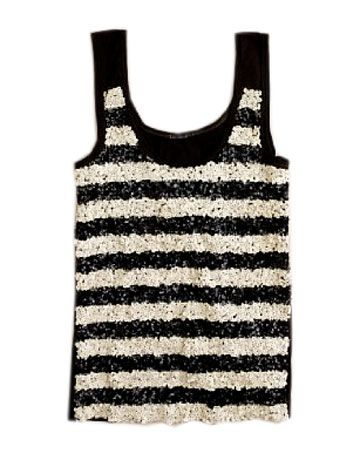 a blinged out breton stripe