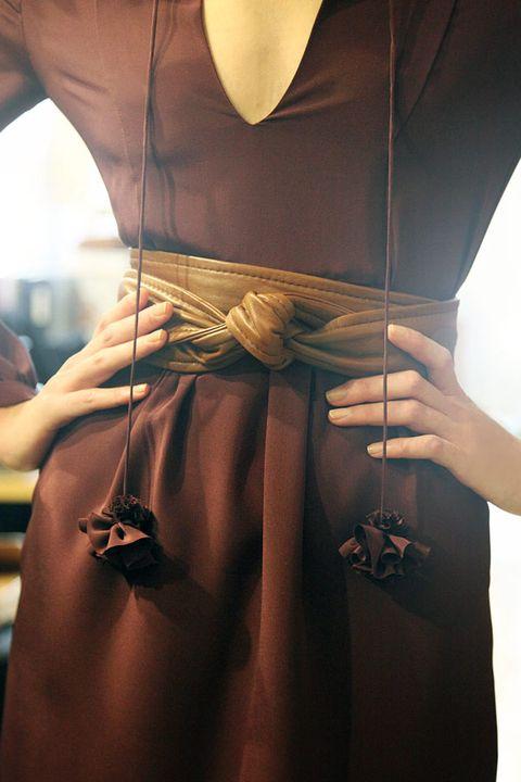 Brown, Fashion, Mannequin, Bag, Tan, One-piece garment, Fashion design, Day dress, Cocktail dress,