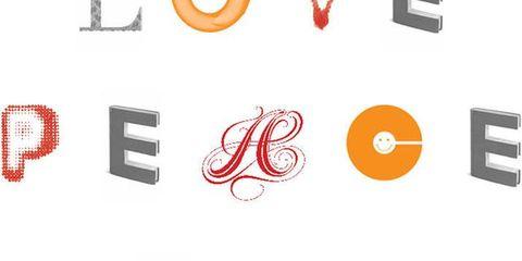 Text, Red, Orange, Circle, Coquelicot, Symbol, Graphics,