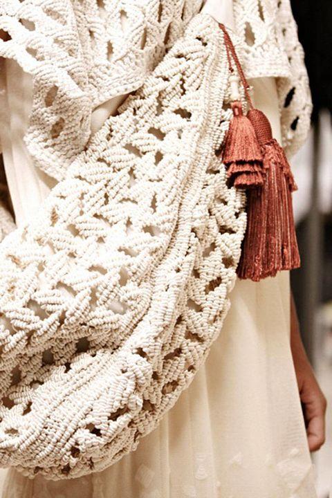 Textile, Pattern, Embellishment, Fashion, Beige, Ivory, Natural material, Lace, Fashion design, Creative arts,