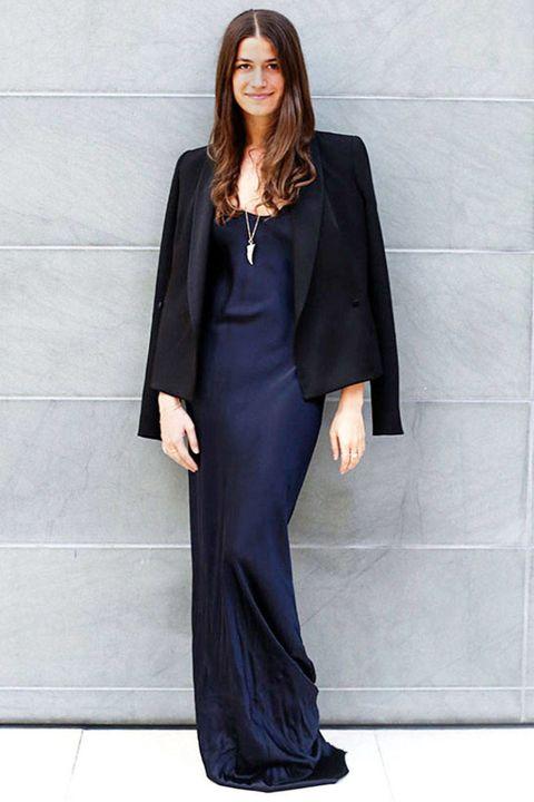 Clothing, Sleeve, Shoulder, Outerwear, Formal wear, Style, Collar, Jewellery, Dress, Blazer,