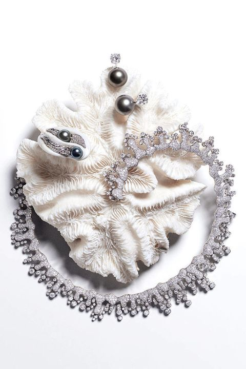 White, Natural material, Silver, Embellishment,