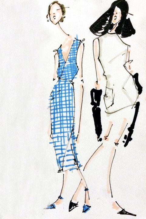 Shoulder, Human leg, Joint, Standing, Style, Fashion illustration, Art, Neck, Costume design, Knee,