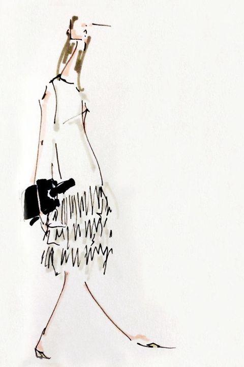 Fashion illustration, Costume design, Art, Artwork, One-piece garment, Day dress, Waist, Line art, Painting, Illustration,