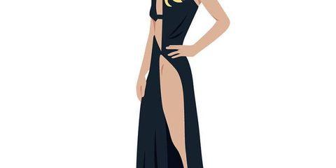 Sleeve, Shoulder, Elbow, Standing, Fashion illustration, Animation, Waist, Neck, One-piece garment, Costume design,