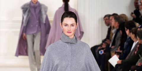 Sleeve, Human body, Fashion show, Textile, Winter, Joint, Outerwear, Style, Runway, Fashion model,