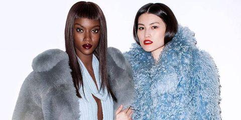 Sleeve, Shoulder, Winter, Textile, Outerwear, Fur clothing, Style, Pattern, Fashion model, Street fashion,