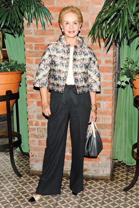 Flowerpot, Collar, Shoulder, Shirt, Textile, Style, Bag, Street fashion, Houseplant, Pattern,