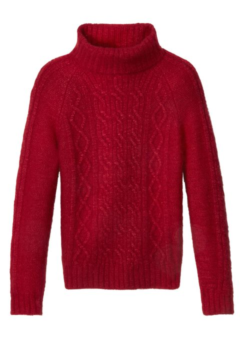 Product, Sleeve, Sweater, Textile, Red, Outerwear, Wool, Woolen, Pattern, Fashion,