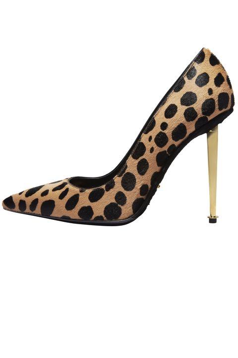 Footwear, Brown, Yellow, High heels, Pattern, Tan, Fashion, Black, Foot, Beige,