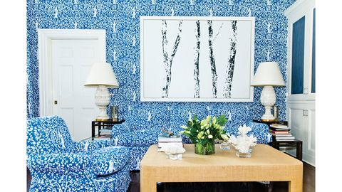 Blue, Room, Interior design, Furniture, Table, Home, Wall, Living room, Turquoise, Interior design,
