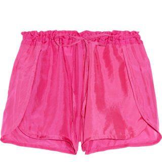 tara matthews indulgence cherry embroidered silk shorts
