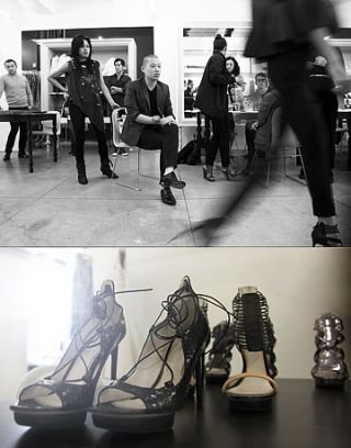 Footwear, Leg, Joint, Furniture, Style, Monochrome, Conversation, Black-and-white, Sandal, Foot,