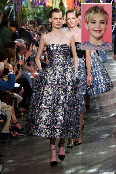Dress, Style, One-piece garment, Strapless dress, Fashion, Day dress, Public event, Spring, Street fashion, Fashion design,