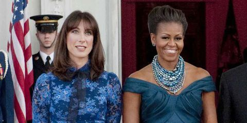 Michelle Obama in Marchesa at a White House State Dinner