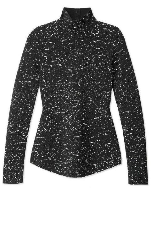 Sleeve, Textile, Collar, Pattern, Style, Fashion, Black, Fashion design, Button, Embellishment,