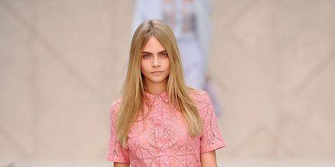Clothing, Shoulder, Fashion show, Joint, Pink, Fashion model, Style, Runway, Street fashion, Waist,