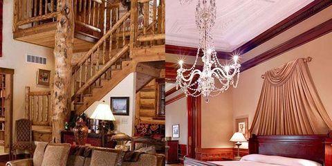 Bed, Room, Wood, Interior design, Lighting, Floor, Bedding, Wall, Home, Lamp,