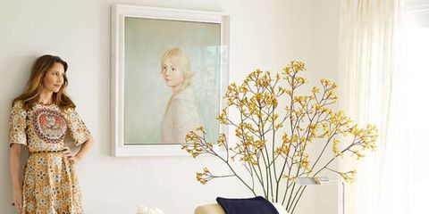 Yellow, Interior design, Room, Dress, Interior design, One-piece garment, Curtain, Window covering, Window treatment, Beige,