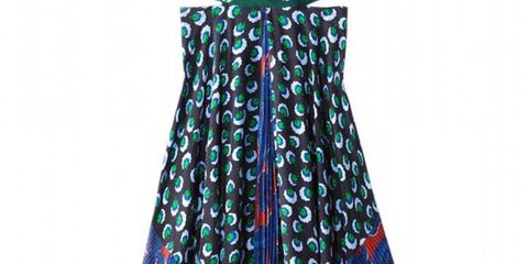 Blue, Textile, Style, Pattern, Dress, Costume accessory, Teal, Electric blue, One-piece garment, Turquoise,