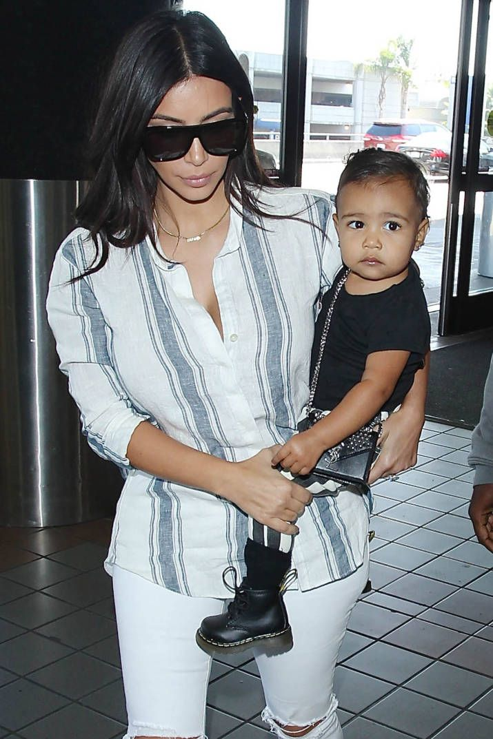 North West Already Has Her Paparazzi Pout Down