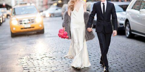 Clothing, Coat, Land vehicle, Vehicle, Trousers, Automotive design, Dress, Suit, Photograph, Outerwear,