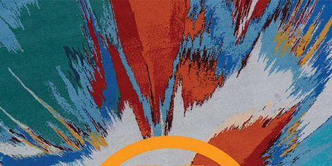 Orange, Amber, Electric blue, Majorelle blue, Colorfulness, Poster, Graphic design, Artwork, Graphics, Paint,