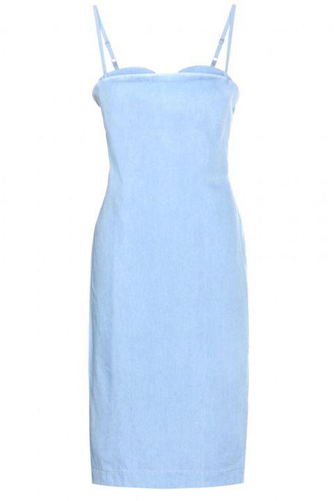 Blue, White, Dress, One-piece garment, Aqua, Electric blue, Azure, Cobalt blue, Teal, Pattern,