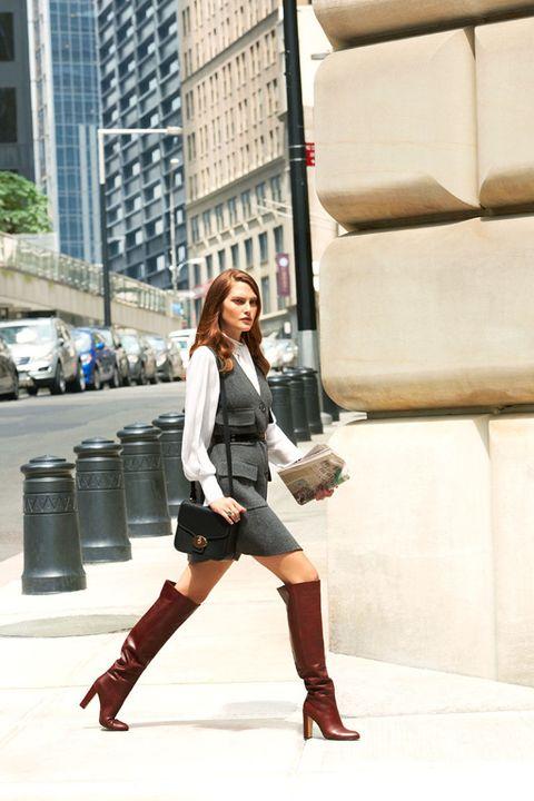 Clothing, Human leg, Textile, Outerwear, Boot, Style, Street fashion, Riding boot, Knee, Fashion,